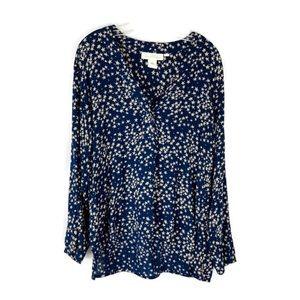 H & M Blue Star Design Gorgeous Top Size 12 EUC